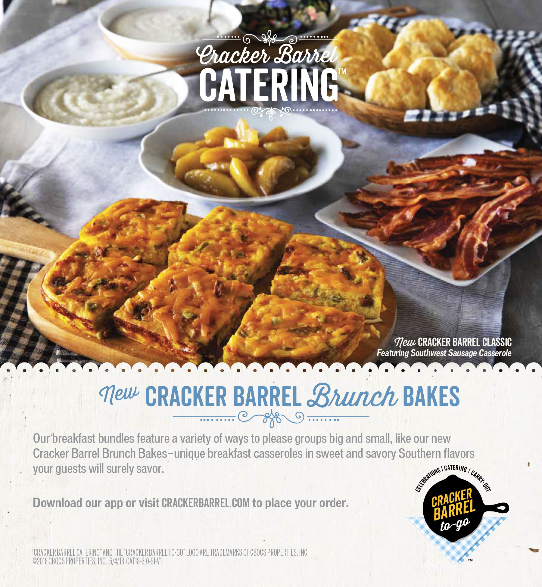 Cracker Barrel Catering Spread Seattle food Photographer