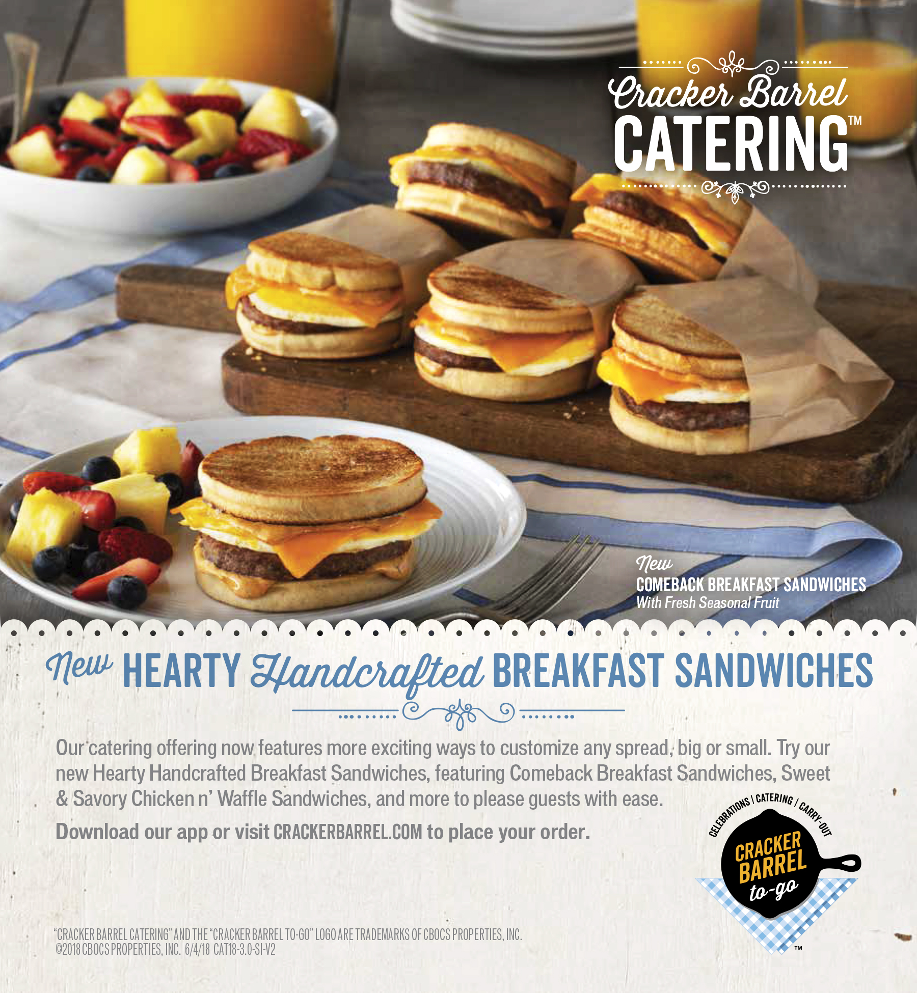 Cracker Barrel Breakfast Sandwiches Seattle food Photographer