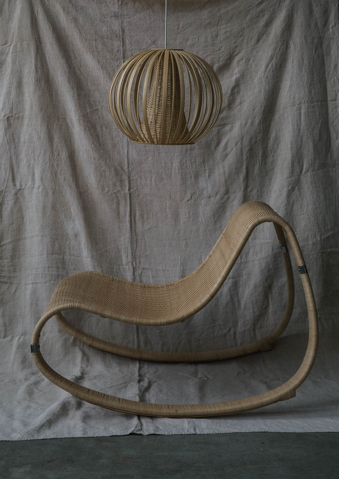 Designer Chair and Basket Light