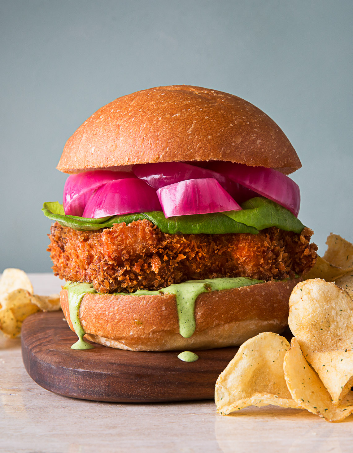 The Healthy Option Salmon Burger