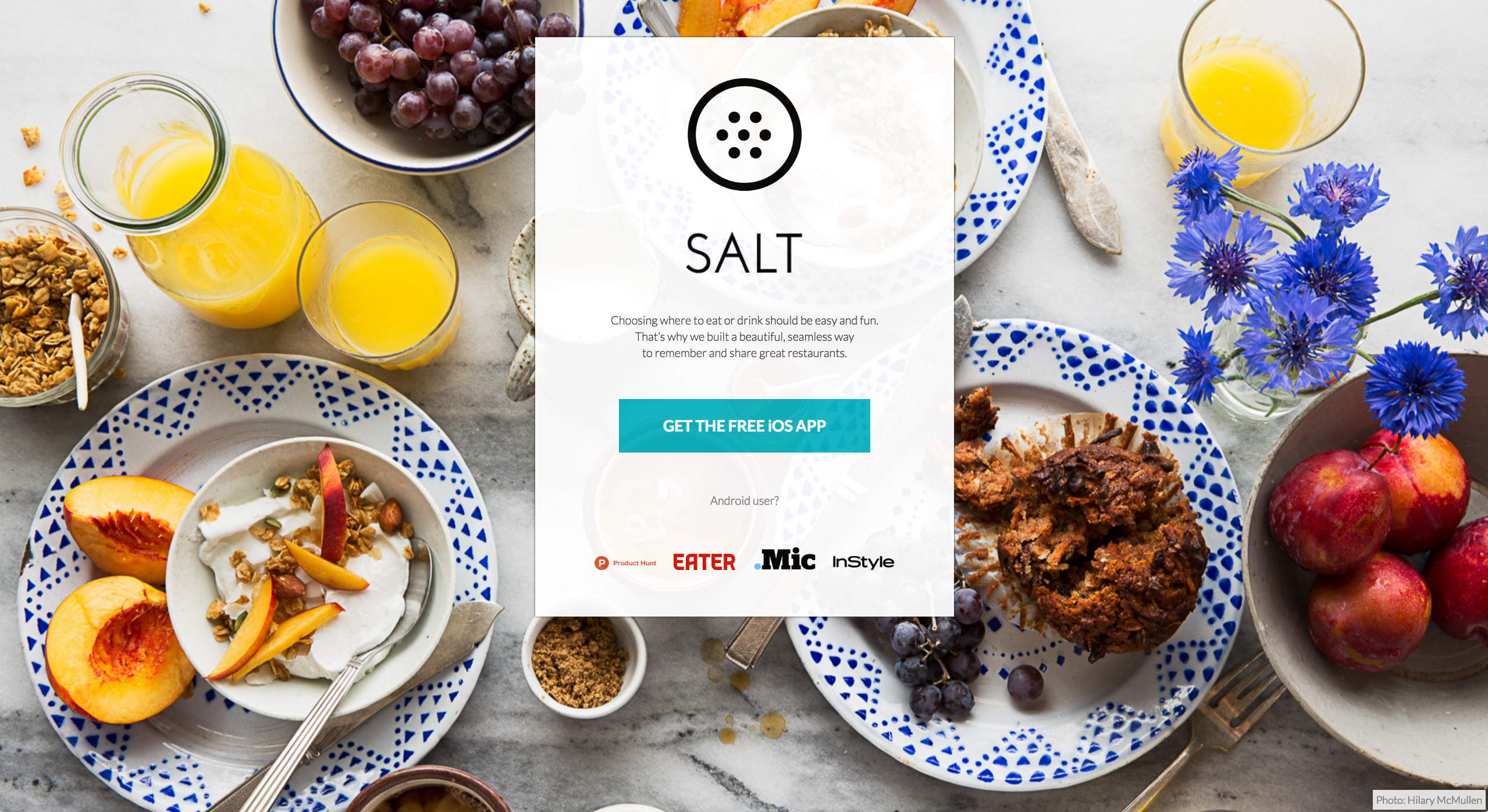 Salt App / Seattle Food Photographer