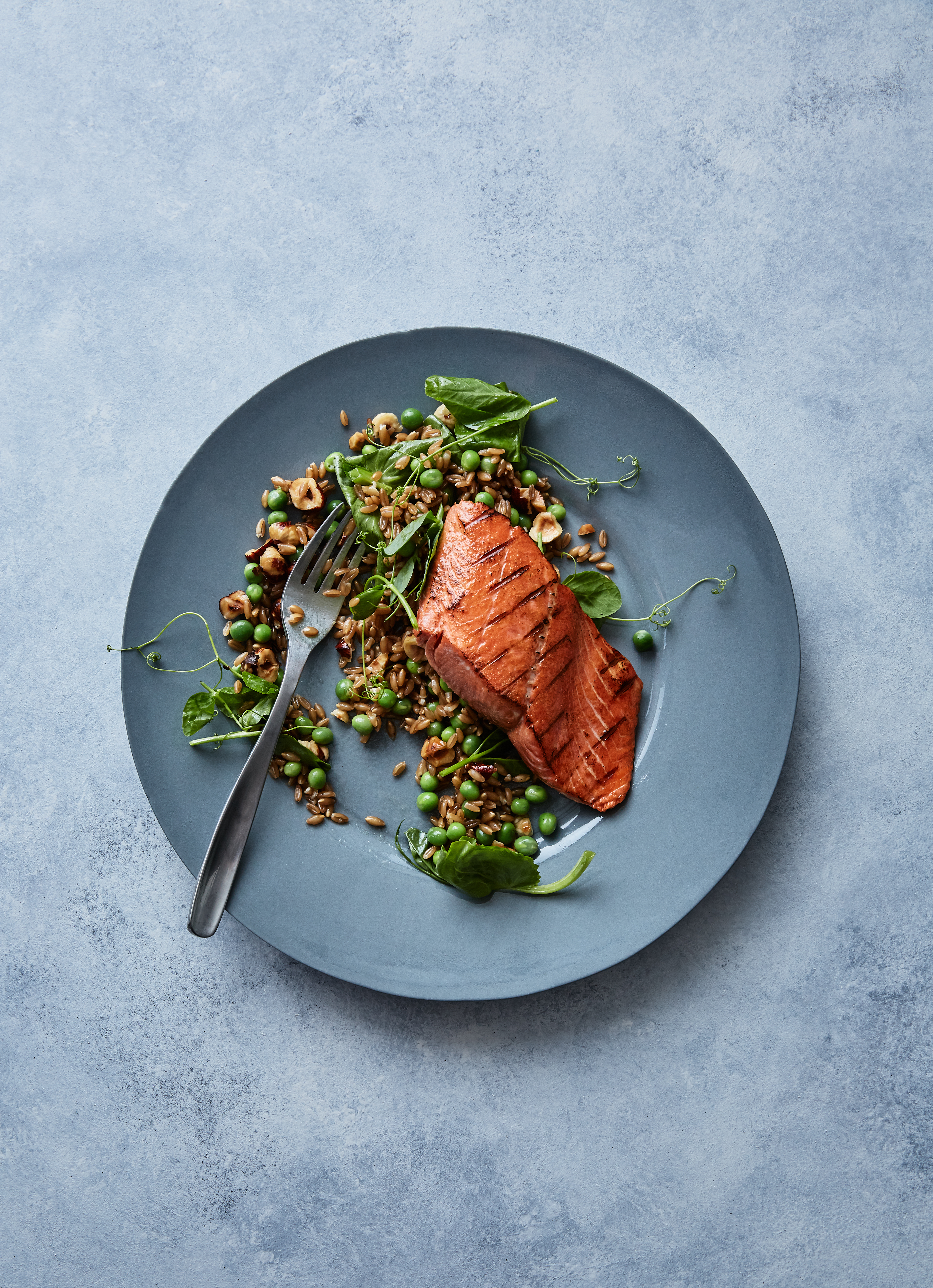 Salmon and Farro, Seattle Food Photographer
