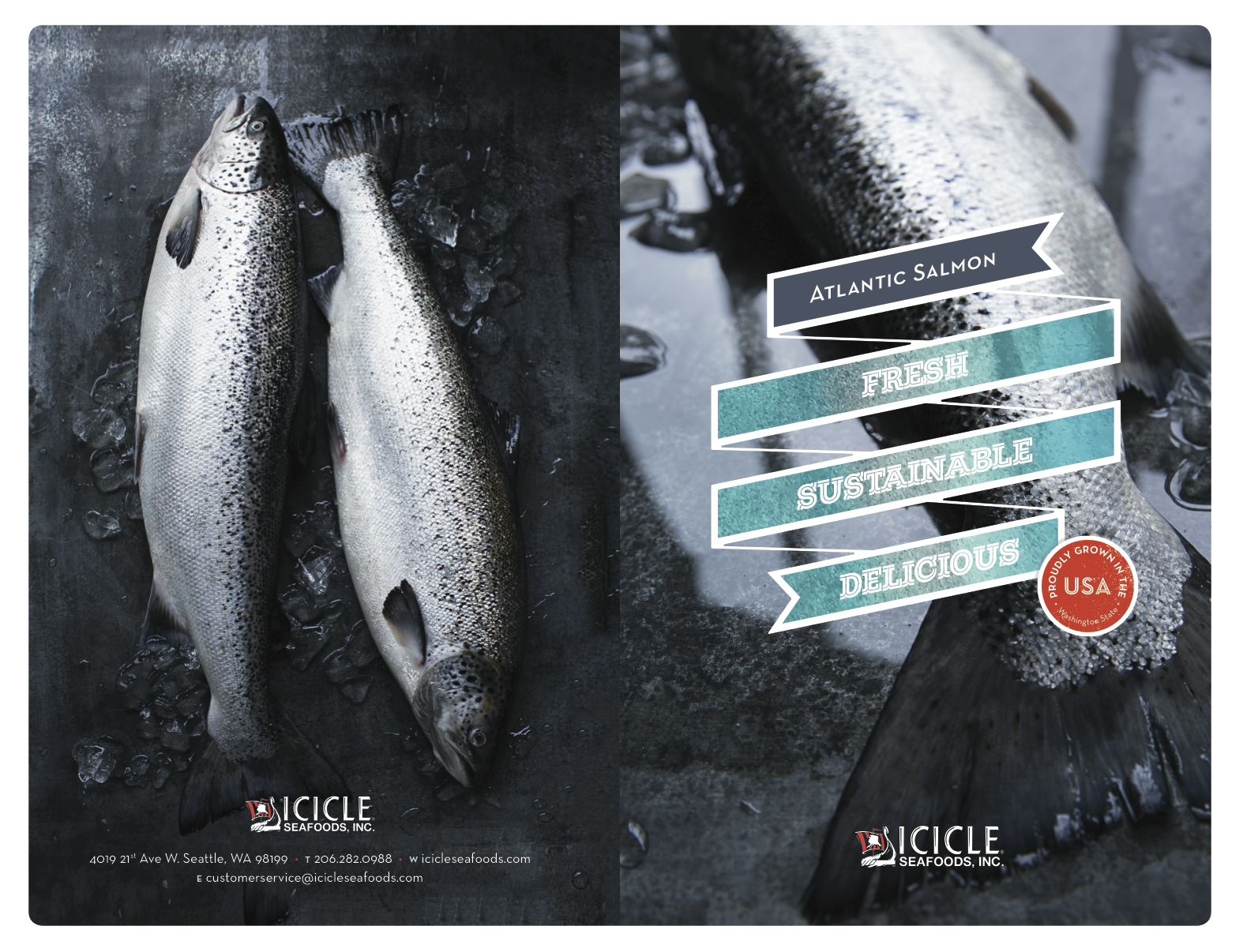 Food Photographer in Seattle for Icicle Seafoods_