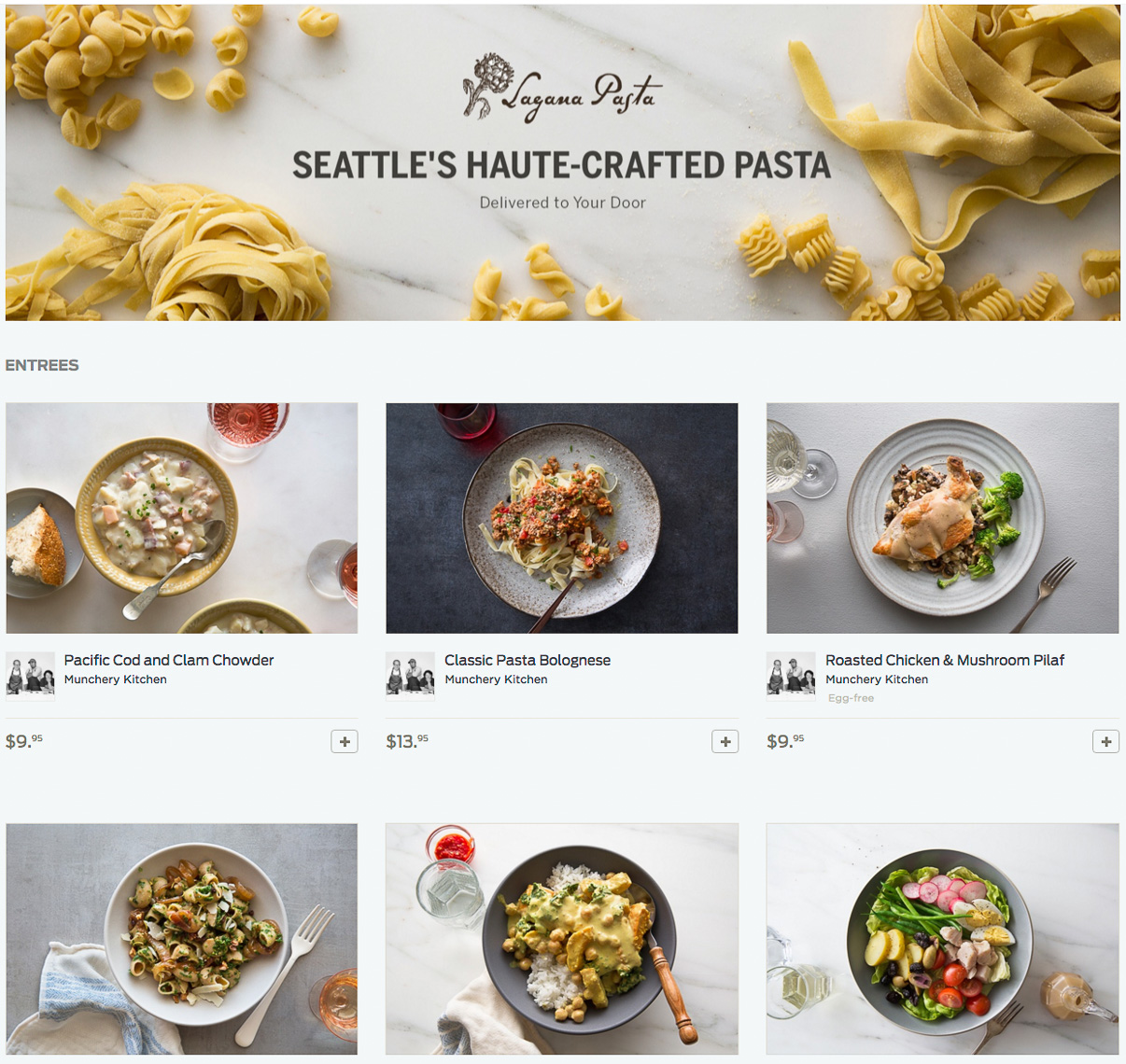 Commercial Food Photographer in Seattle for Munchery
