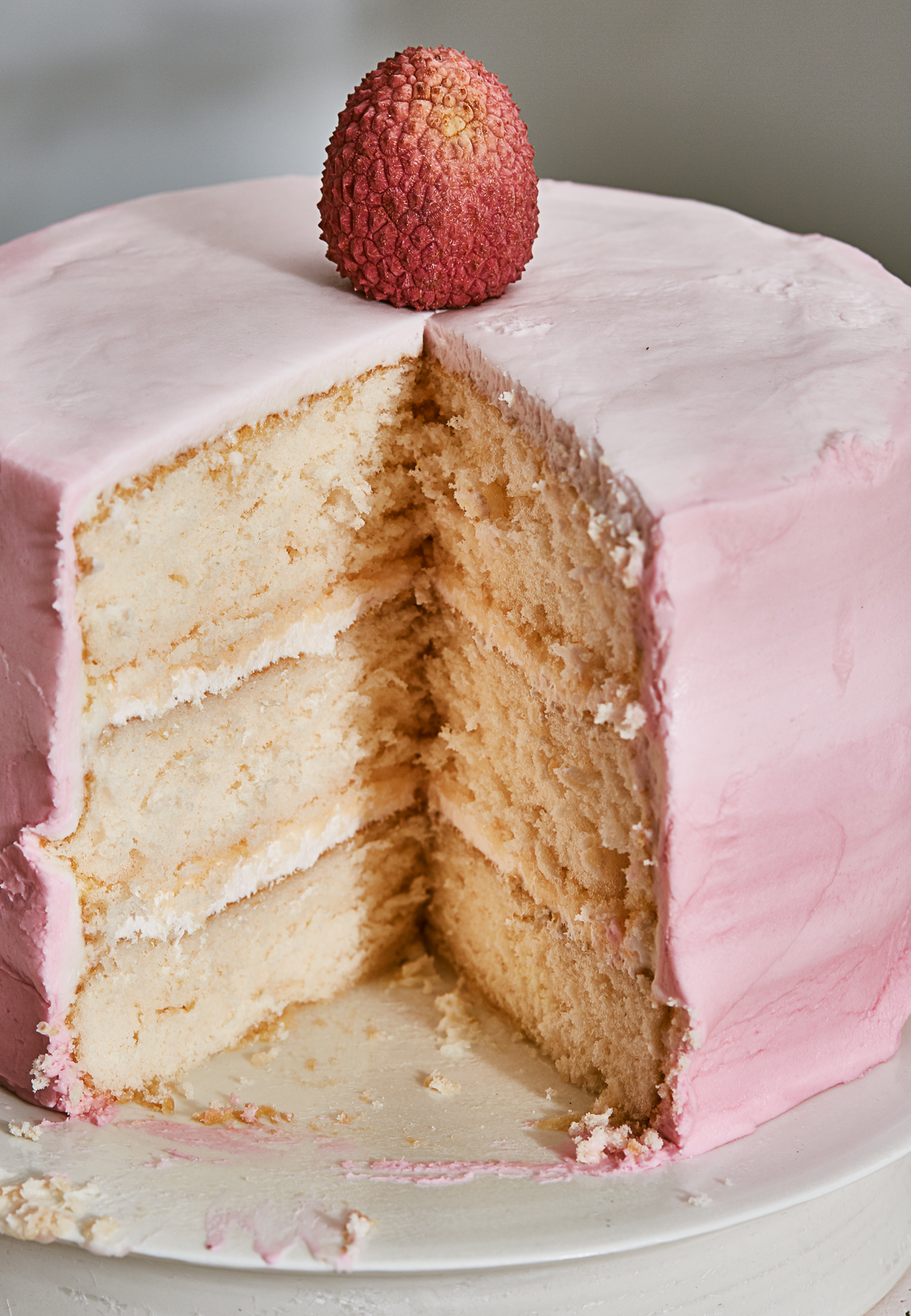 Little Pink Lychee Cake
