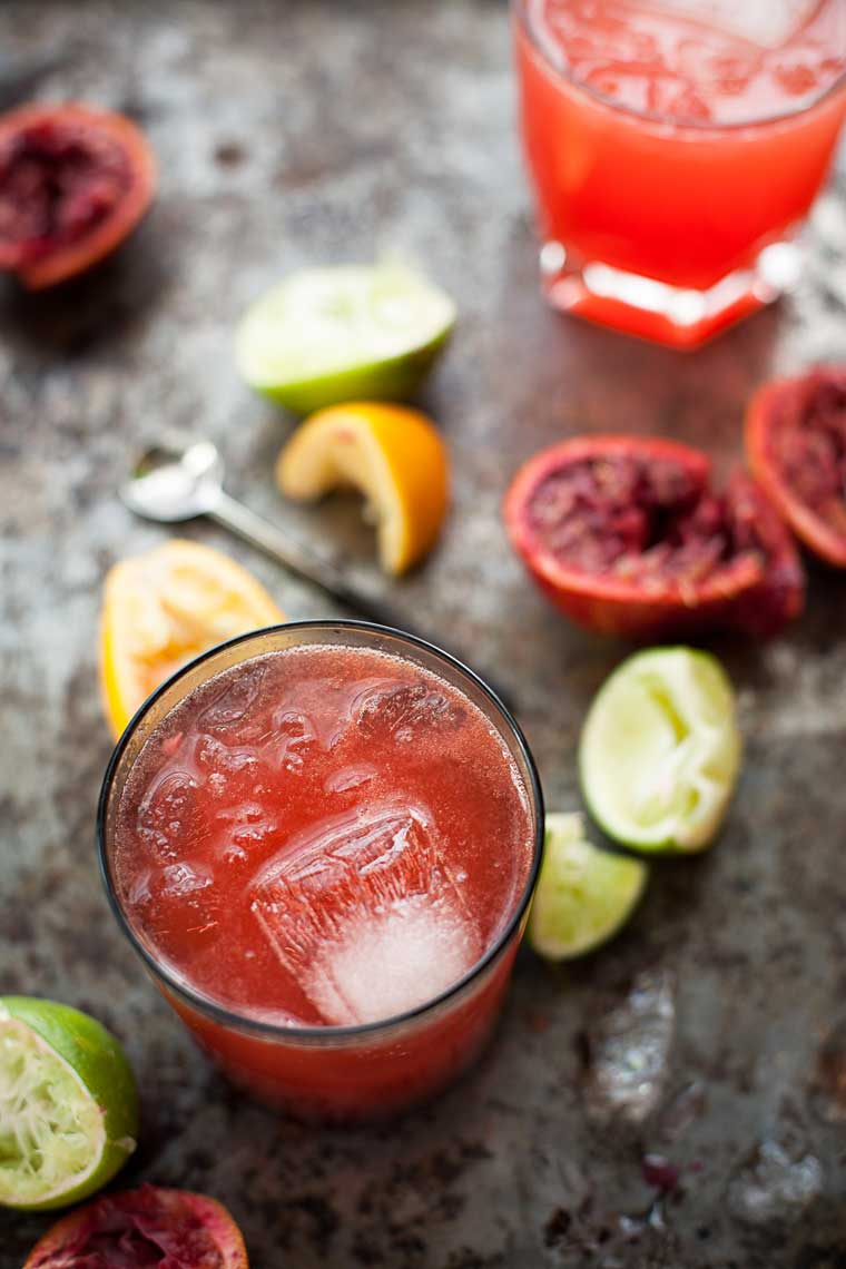 Holiday blood orange Cocktails