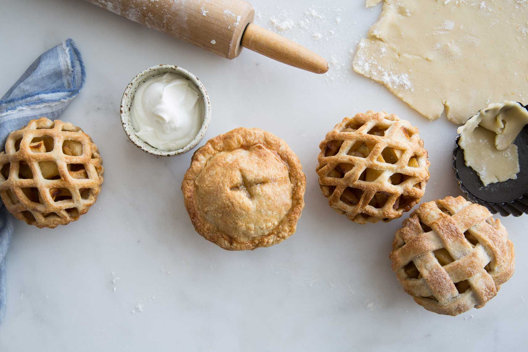 homemade lattice apple tarts in Seattle