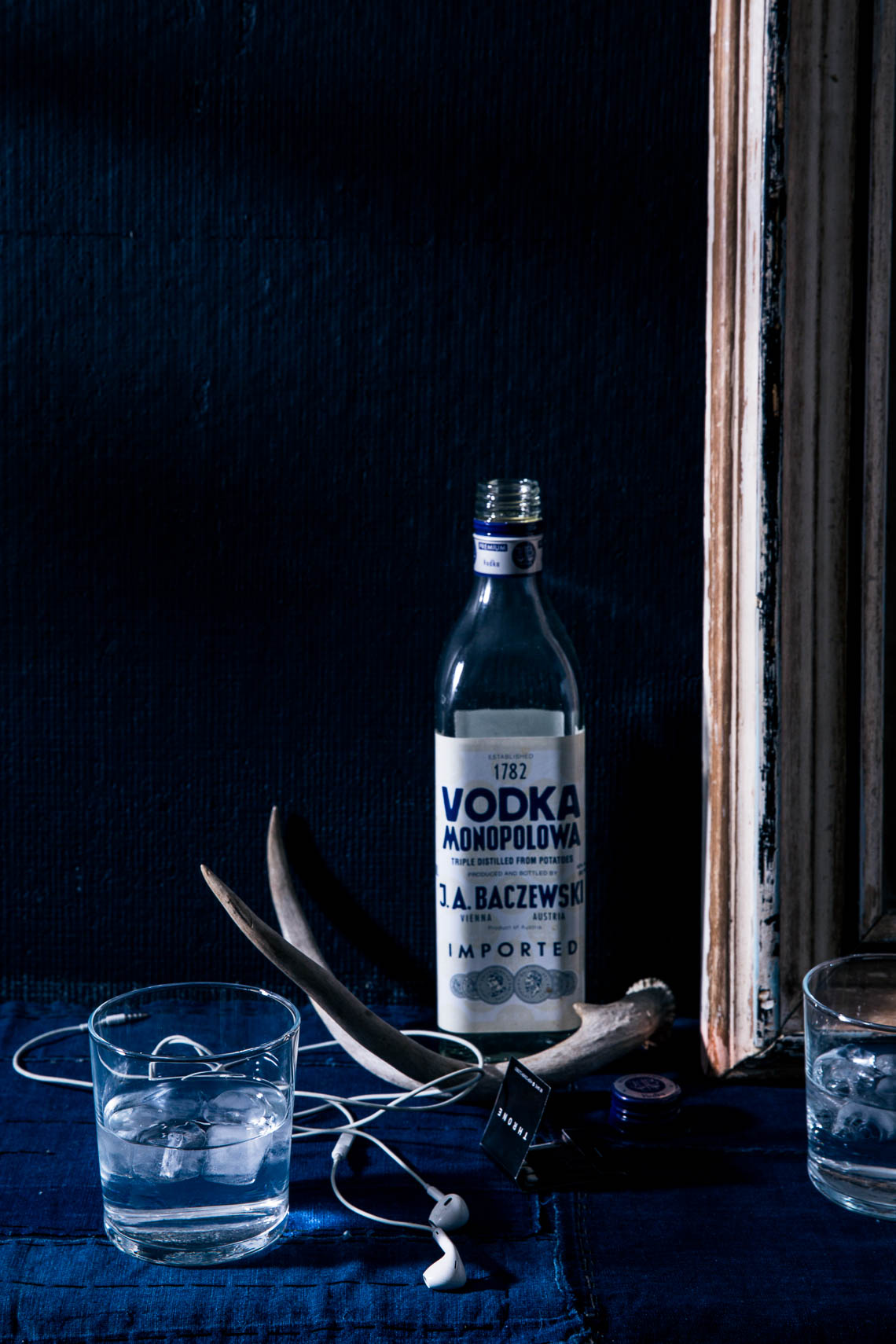 Imported Vodka still life