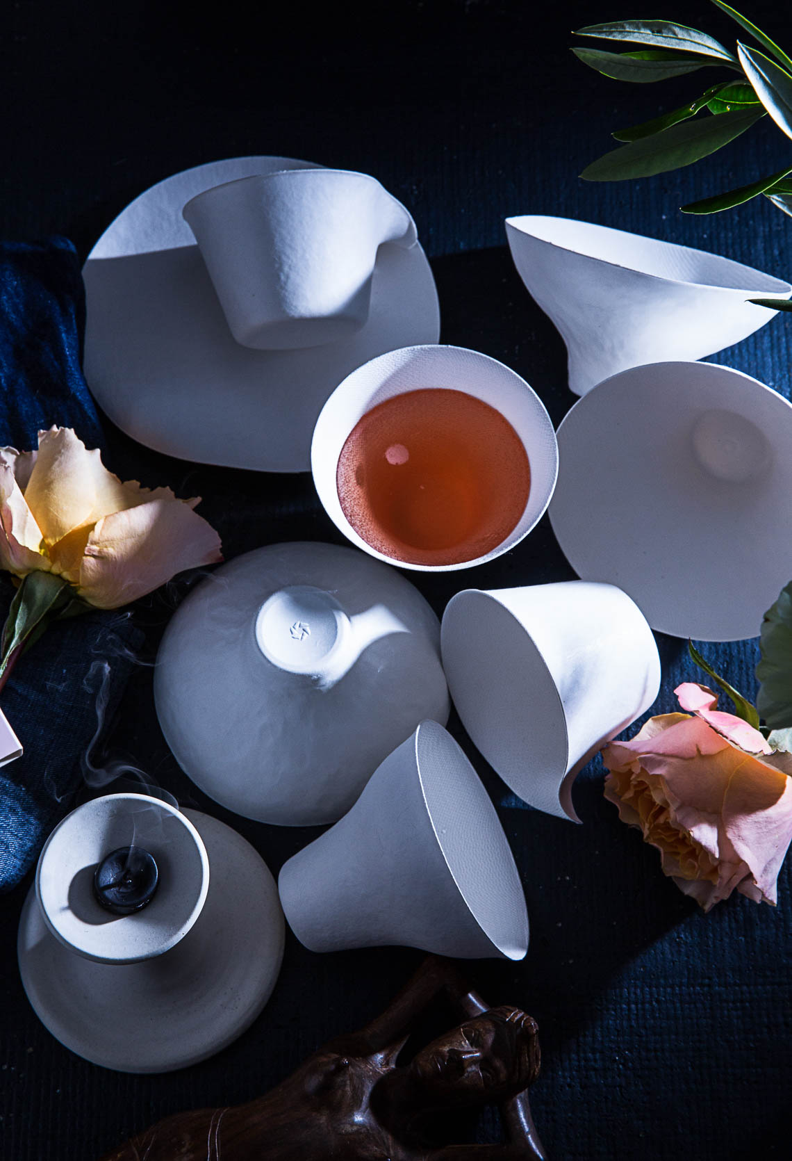 Wasara tableware and Rose