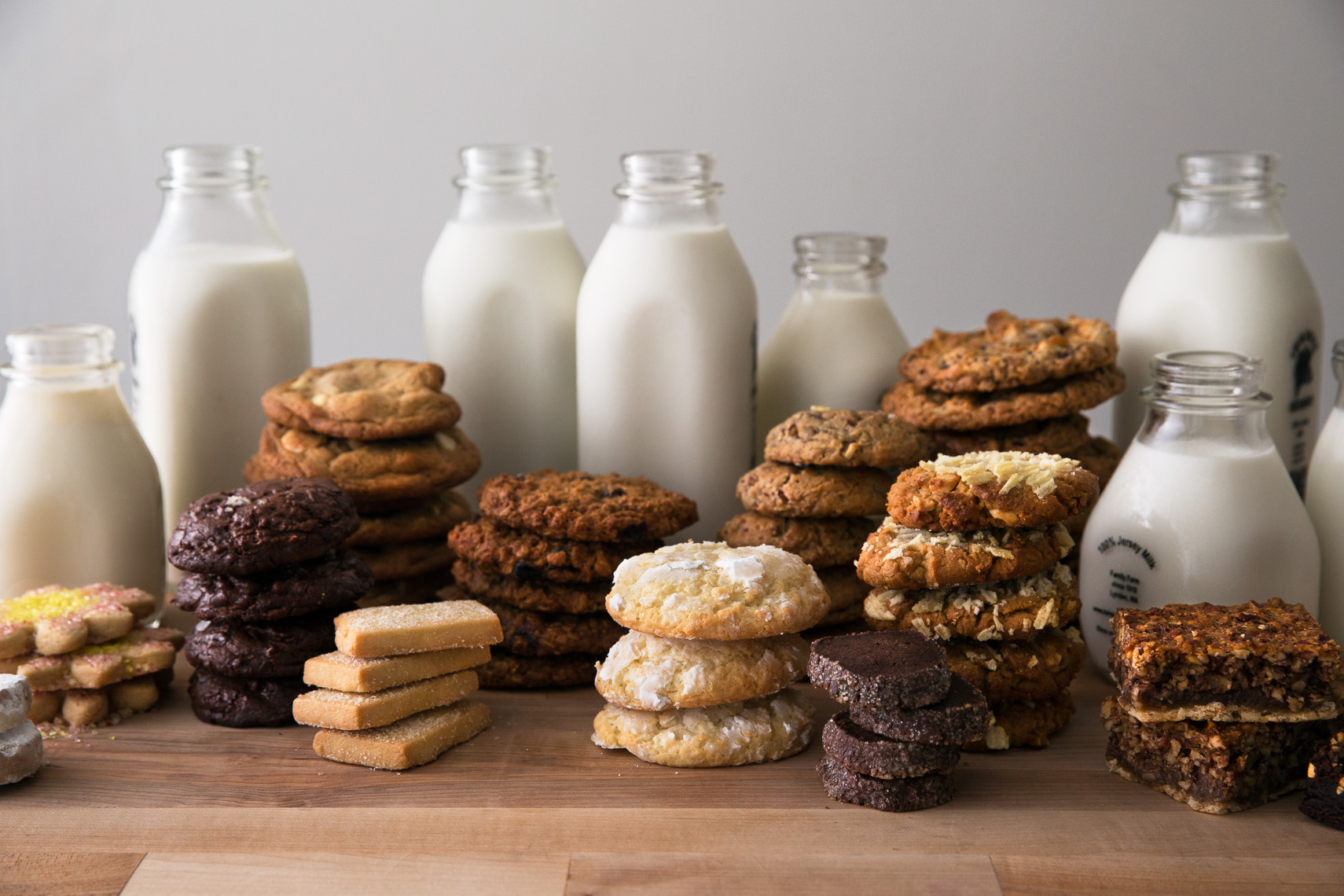 Warm gooey cookies and milk